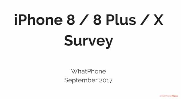 We surveyed 500 Australian phone users in September 2017 and compared iPhone users' answers to the major alternatives.