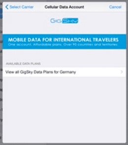 Gigsky are an AppleSIM or eSIM partner which offer roaming data in a large number of countries around the world