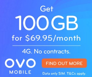 OVO Big Data 100GB $69.95 per month