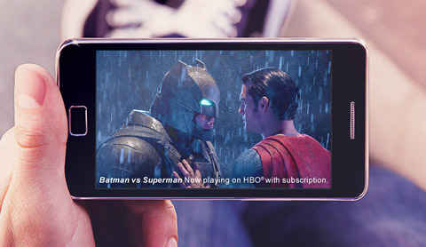 Superman Movie streaming on phone