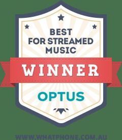 The 2017 WhatPhone Best Streamed Music Award winner was Optus.