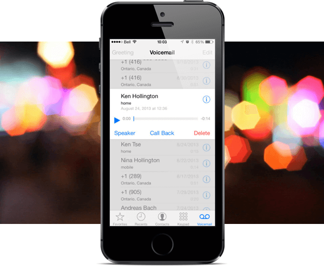 Visual Voicemail for iPhone