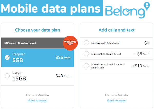 Get Generous With Data on Belong Mobile Plans