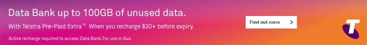 Telstra Data Bank up to 100GB with Telstra Pre-paid Extra