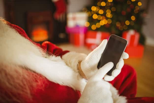 Santa knows that Christmas is the best time to look for a phone plan