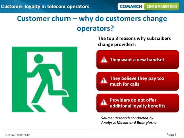 When telcos ignore their customers and fail to offer loyalty benefits, customers are likely to switch the provider.