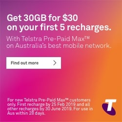 Get 30GB fror $30 on your first 5 recharges.
