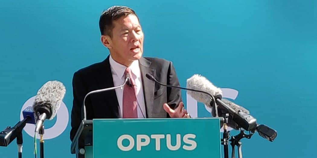 Optus CEO Allen Lew says the company had to make some adjustments after Australia's Huawei ban, but that the ban did not cause any delays in its 5G roll-out.