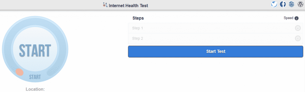 Test internet connection speed with Internet Health Test
