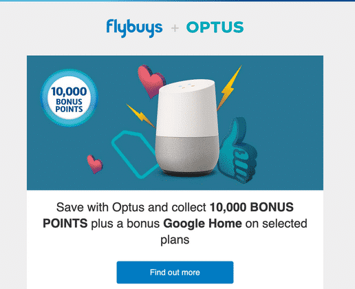The FlyBuys-Optus partnership, which has been on for several years now, is now being extended to cater to a broader range of Optus customers