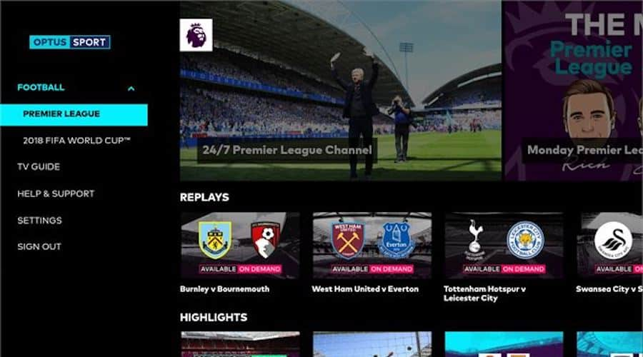 Australian telcos also offer other sports-related content, aside from actual games.