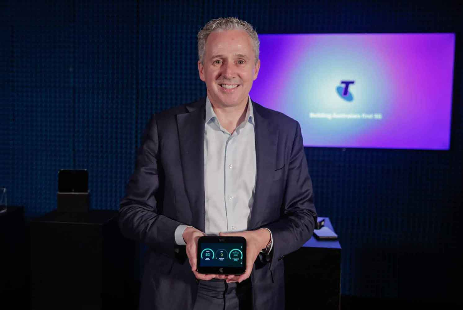 HTC 5G Hub is a smart mobile broadband device co-developed with Telstra.
