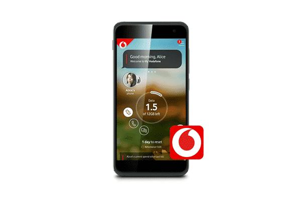 Vodafone mobile app.