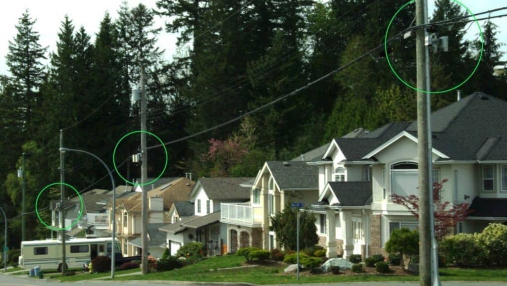 Multiply 5G towers in residential neighborhoods.