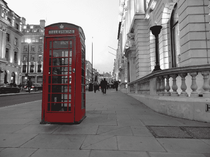 The phone boxes.