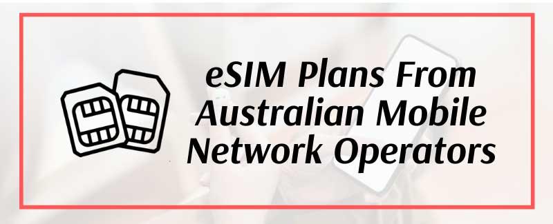 eSIM plans