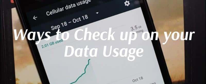 ways to check data usage