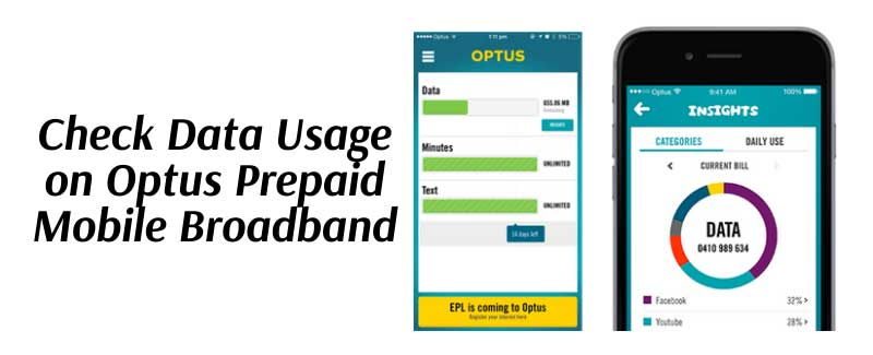 Check Data Usage on Optus Prepaid Mobile Broadband