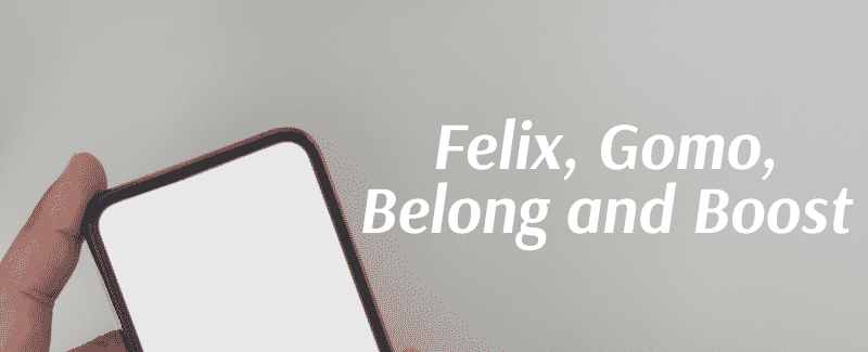Different About Felix, Gomo, Belong and Boost