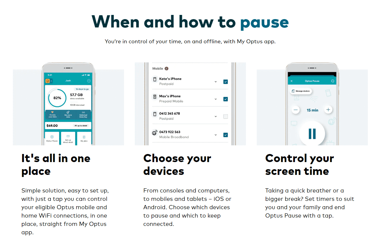 How to use Optus Pause.