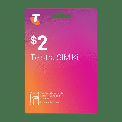 Telstra $2 SIM Kit